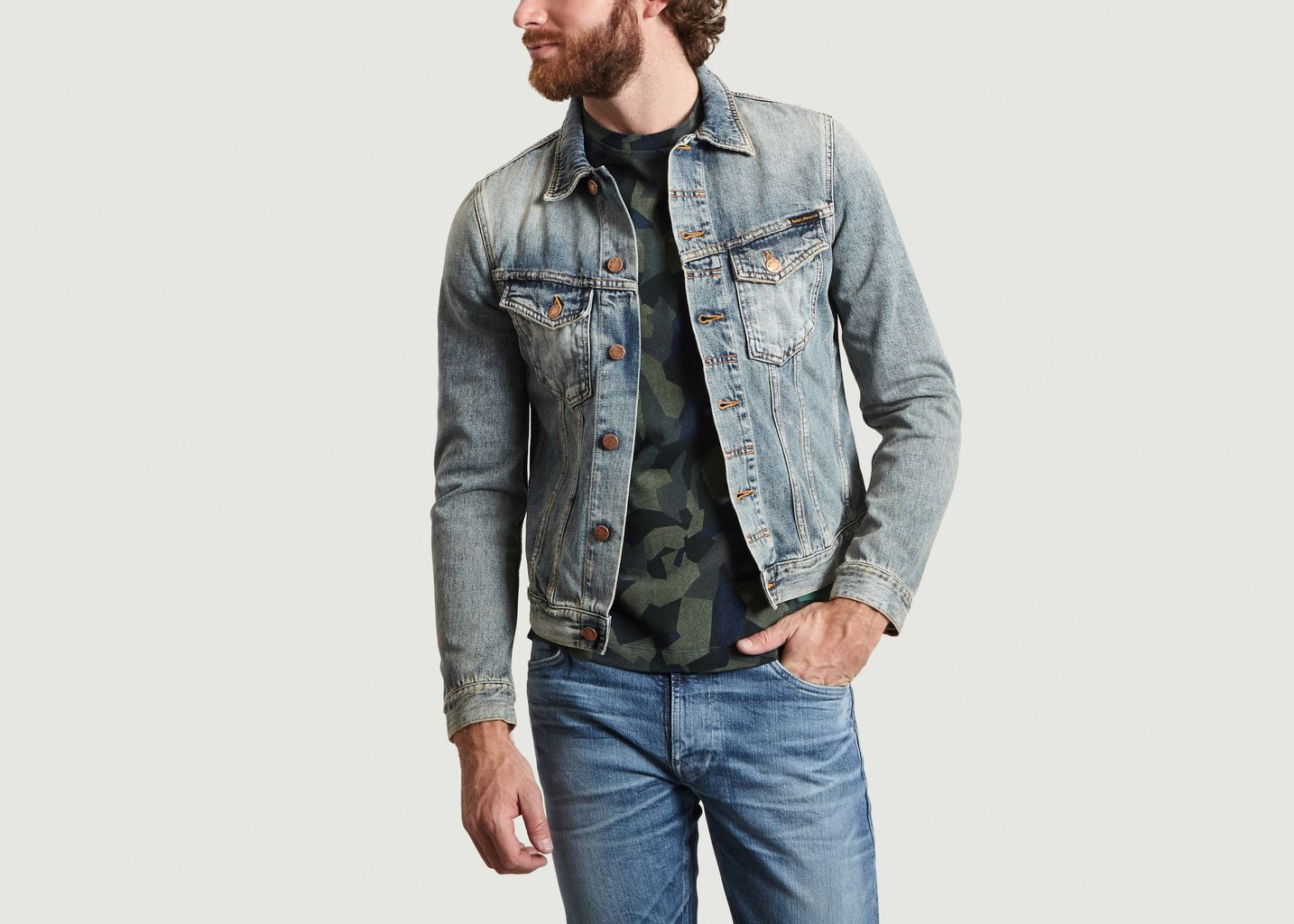 Veste Denim Billy en Coton Biologique - Nudie Jeans