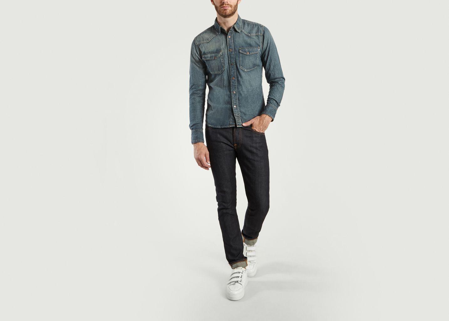 8a5ad017ec3 Jonis Shimmering Denim Jacket Denim Nudie Jeans