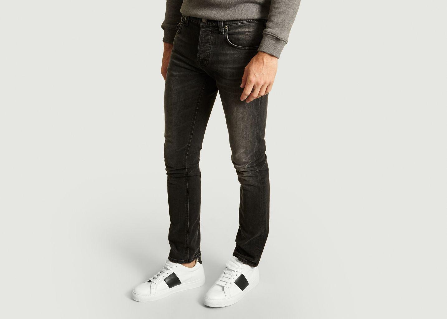 Jean Grim Tim Slim Concret Black - Nudie Jeans