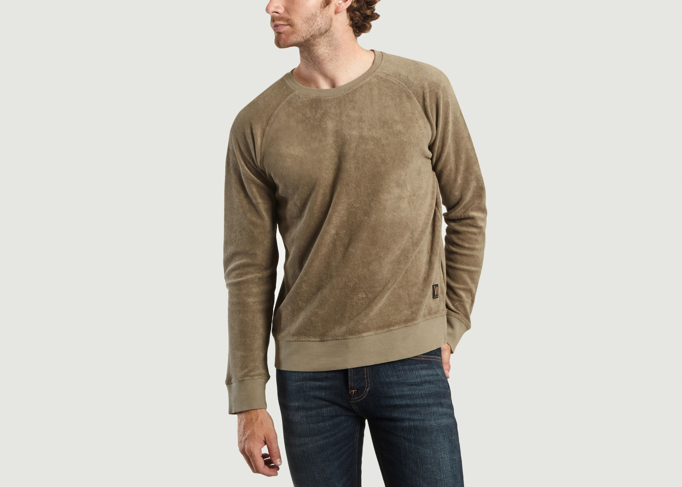 80d33466ea Samuel Terry Sweatshirt Turtle Dove Nudie Jeans