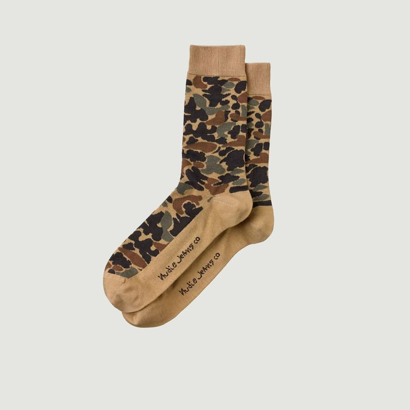 Chaussettes Olsson Camo Multi - Nudie Jeans