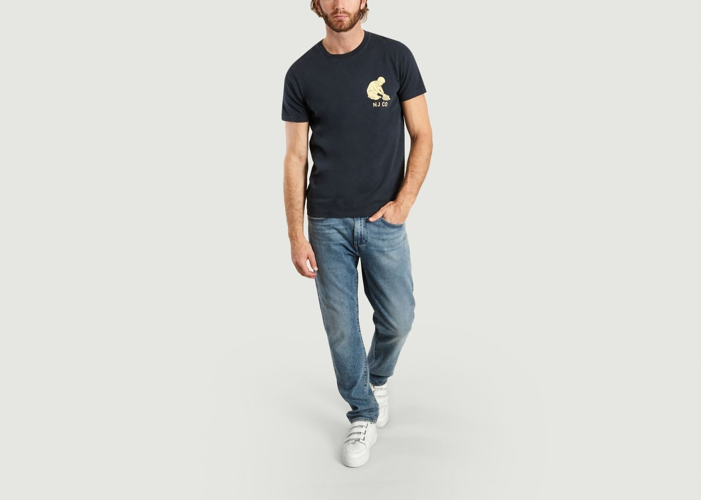 T-Shirt Roy Logo Boy - Nudie Jeans