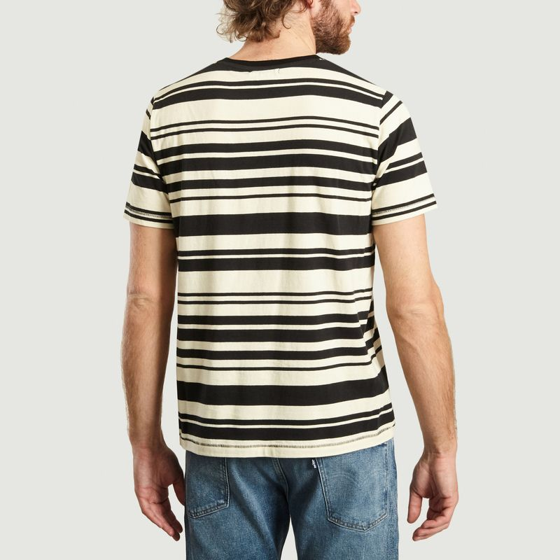 T-Shirt Rayé Roy Barcode - Nudie Jeans