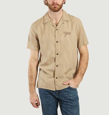 Chemise manches courtes à lettrage brodé Arvid
