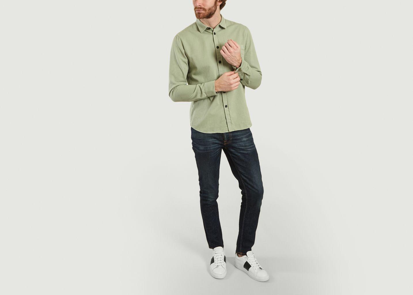 Jean slim brut en coton bio Lean Dean - Nudie Jeans