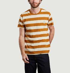 T-shirt rayé Roy avec patch siglé