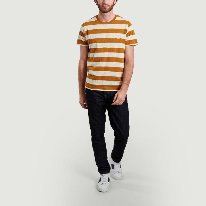 T-shirt rayé Roy avec patch siglé - Nudie Jeans