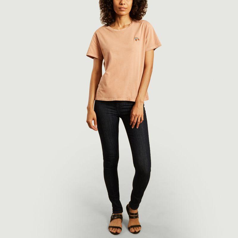 T-shirt cropped brodé Lisa - Nudie Jeans
