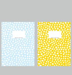 Yellow and Blue Dots Notepads