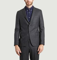 Flannel Suit Jacket