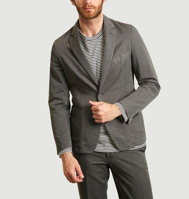 Veste de costume en coton et lin 375