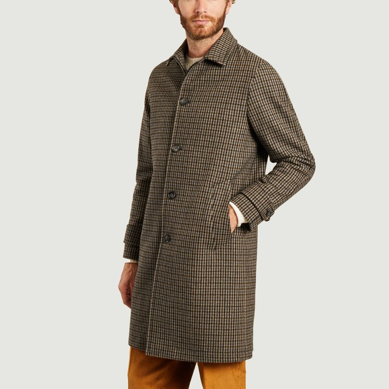 Manteau Plaid checks Stephane - Officine Générale