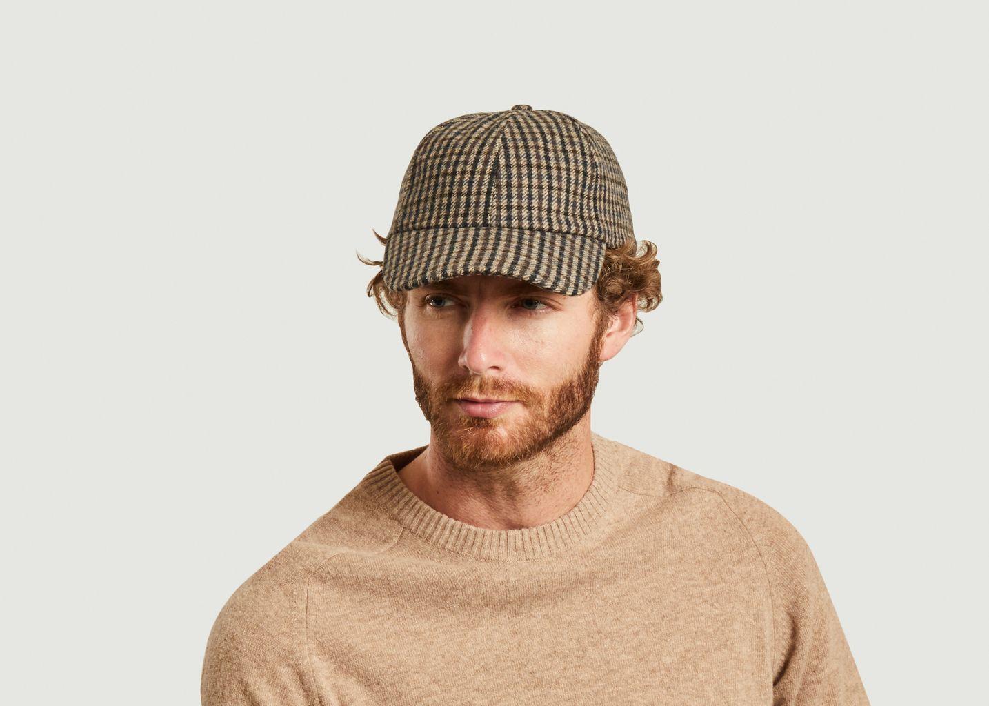 Casquette plaid à carreaux laine - Officine Générale
