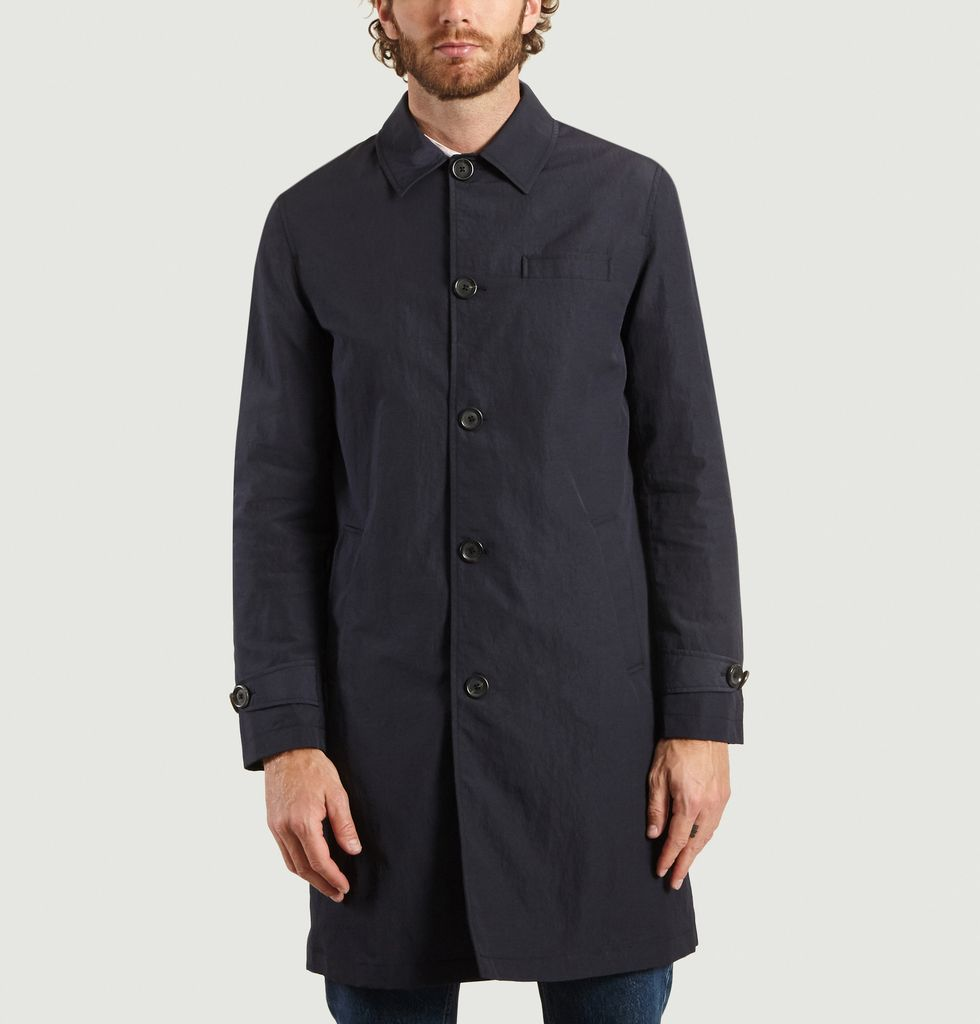 Trench Navy Blue Beaumont Coat Oliver SpencerL'exception b7gf6YyIv