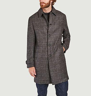 Manteau à carreaux en laine Grandpa