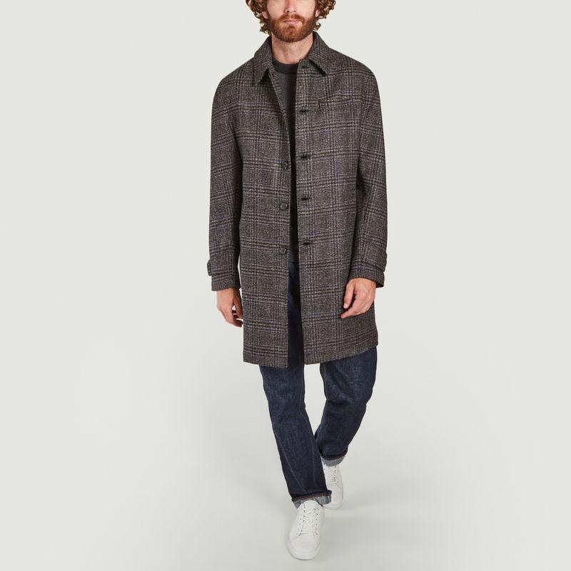 Manteau à carreaux en laine Grandpa - Oliver Spencer