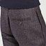 matière Pantalon à plis en laine à carreaux - Oliver Spencer