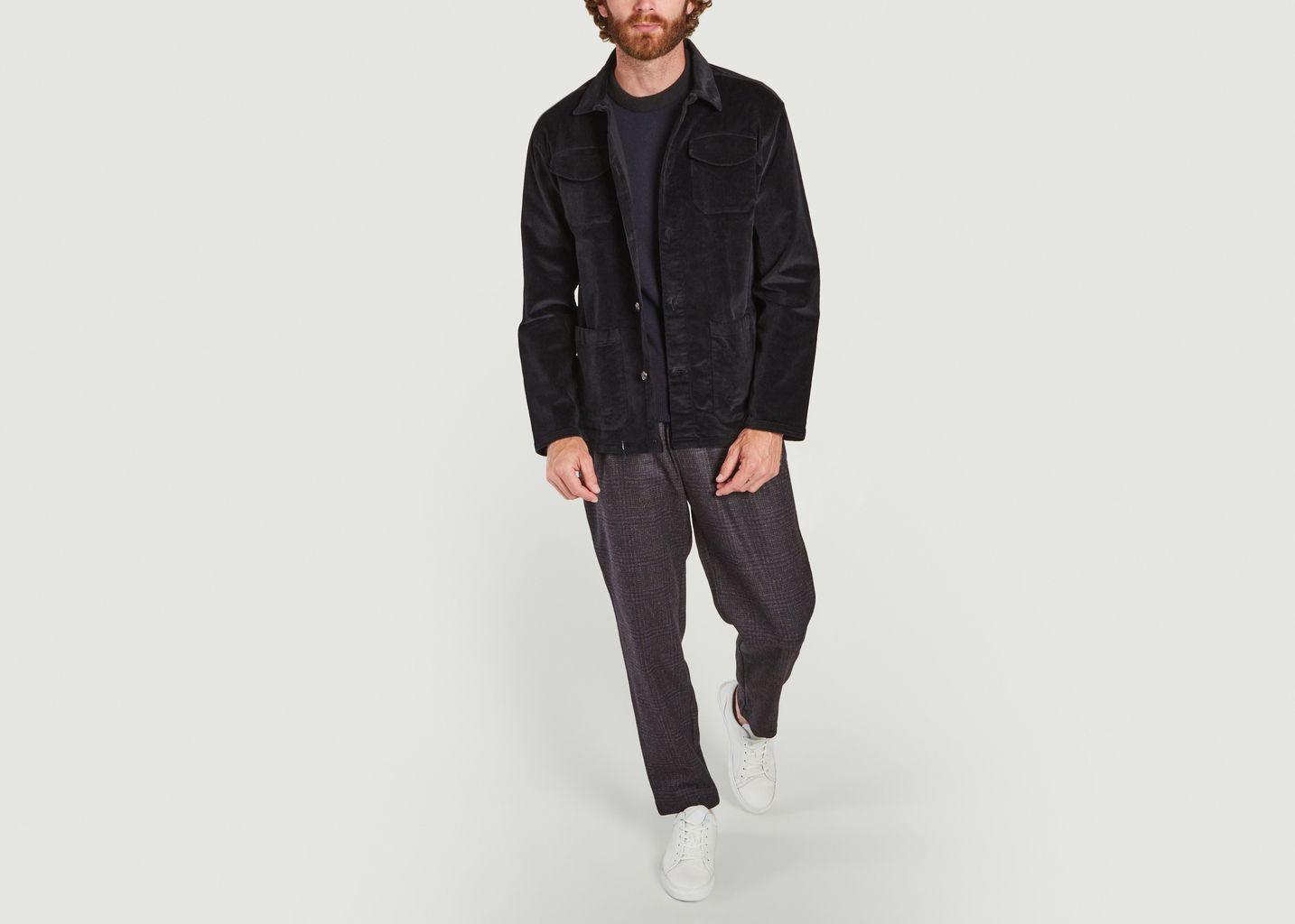 Veste boutonnée en velours côtelé Hockney - Oliver Spencer