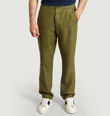 Pantalon Drawstring en Lin