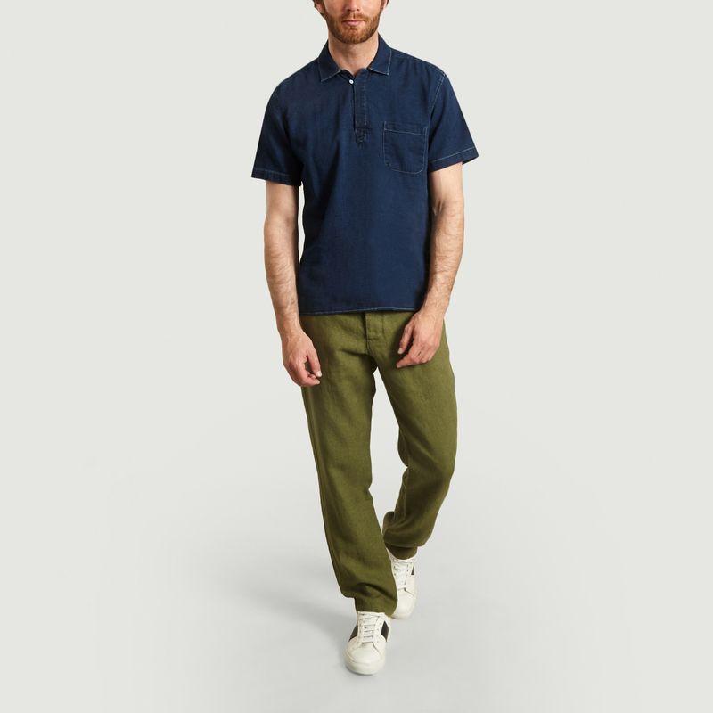 Pantalon Drawstring en Lin - Oliver Spencer