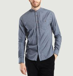 Chemise Relax Col Mao