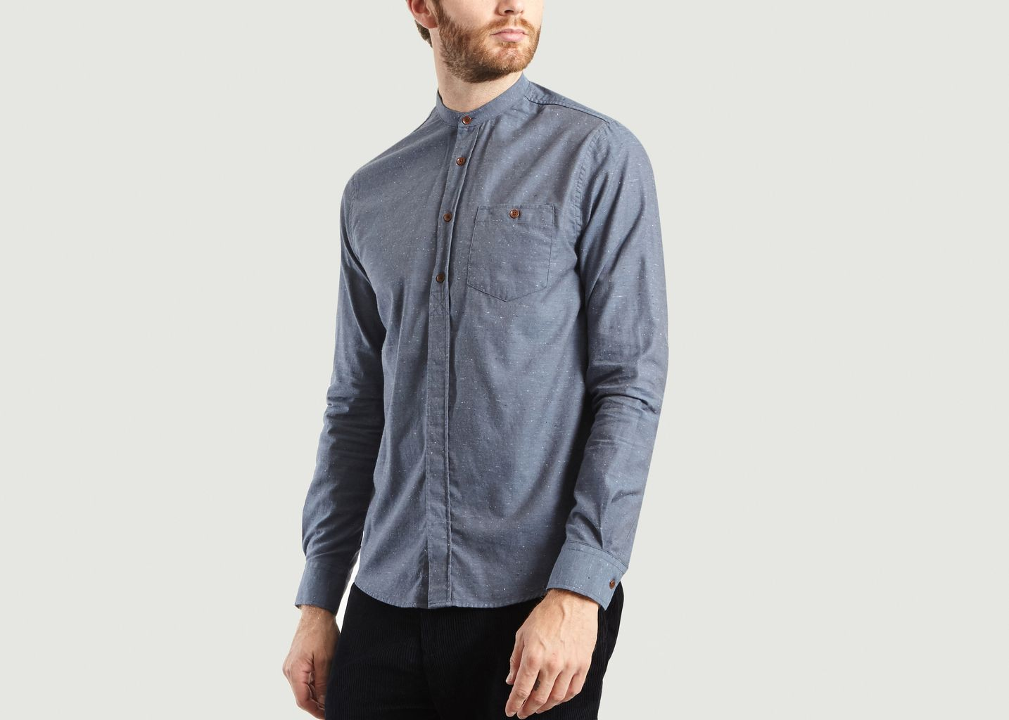Chemise Relax Col Mao - Olow