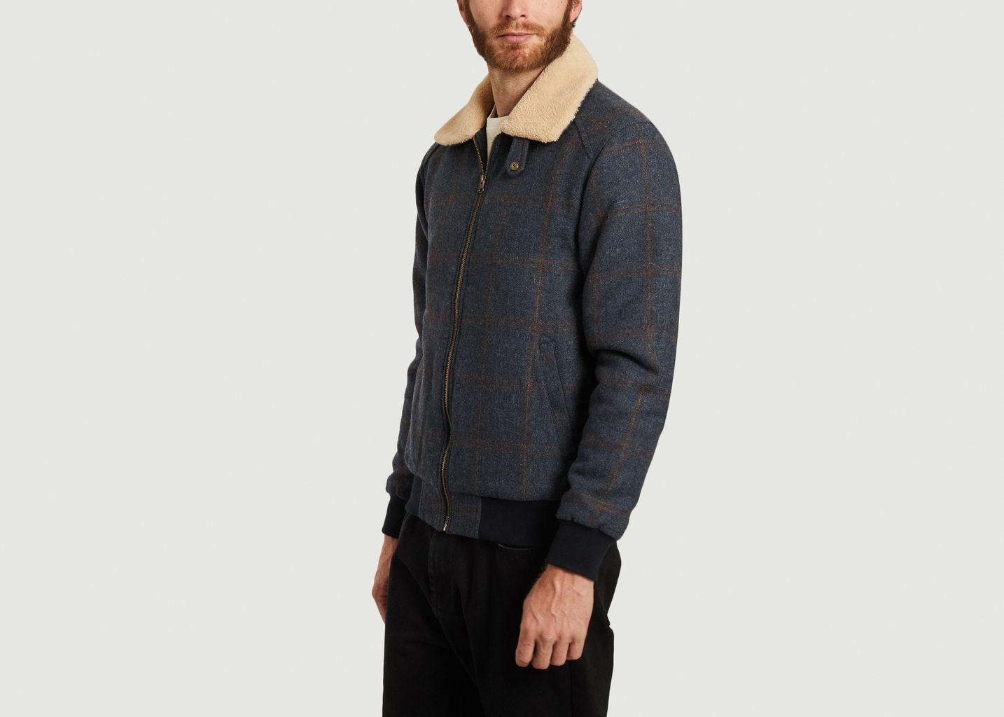 Blouson en laine à carreaux avec col effet fourrure Wander - Olow