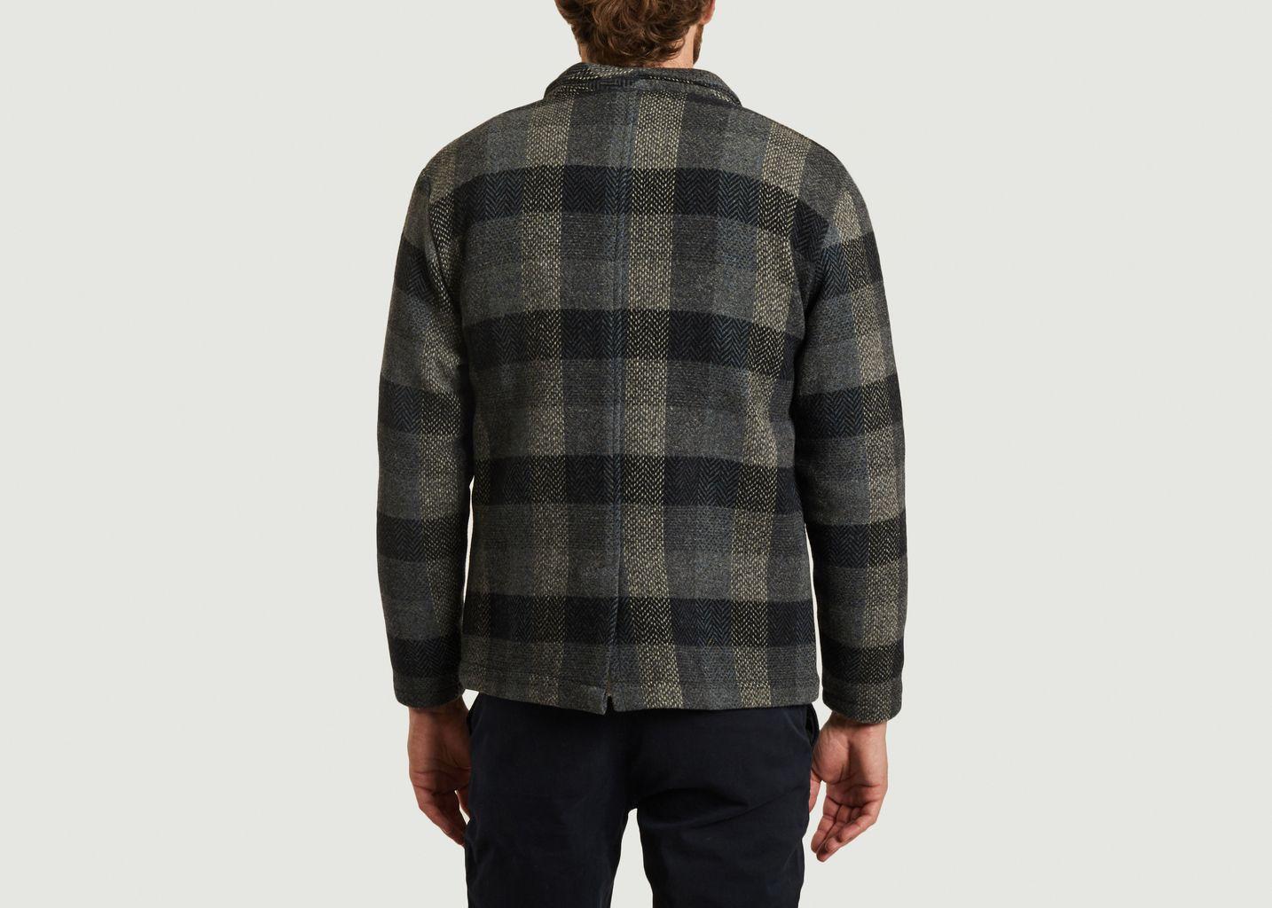 Veste en laine à carreaux 1981 - Olow