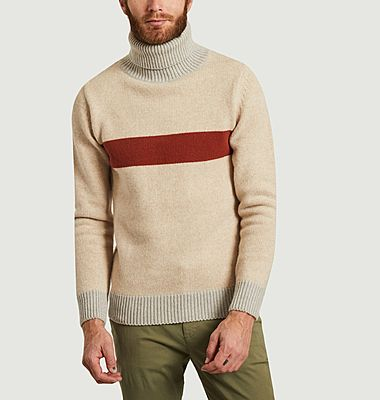 Pull col roulé en laine Pebroc