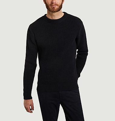 Coco checkered stitch sweater