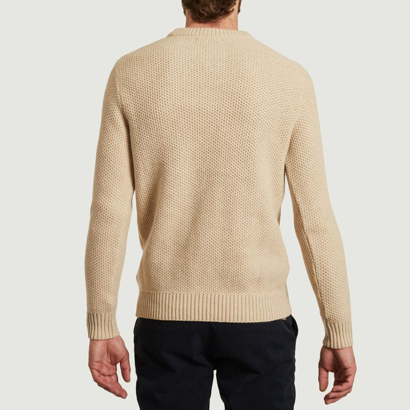 Pull nid d'abeille Sablons - Olow
