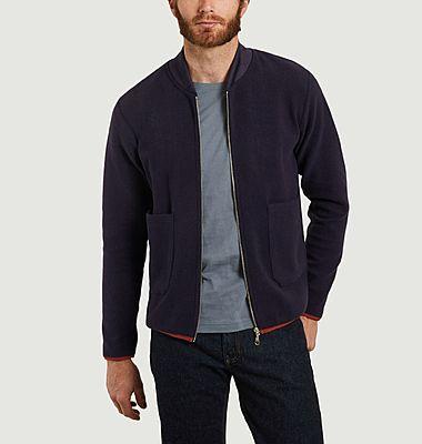 Boreal recycled polyester fleece zipped cardigan