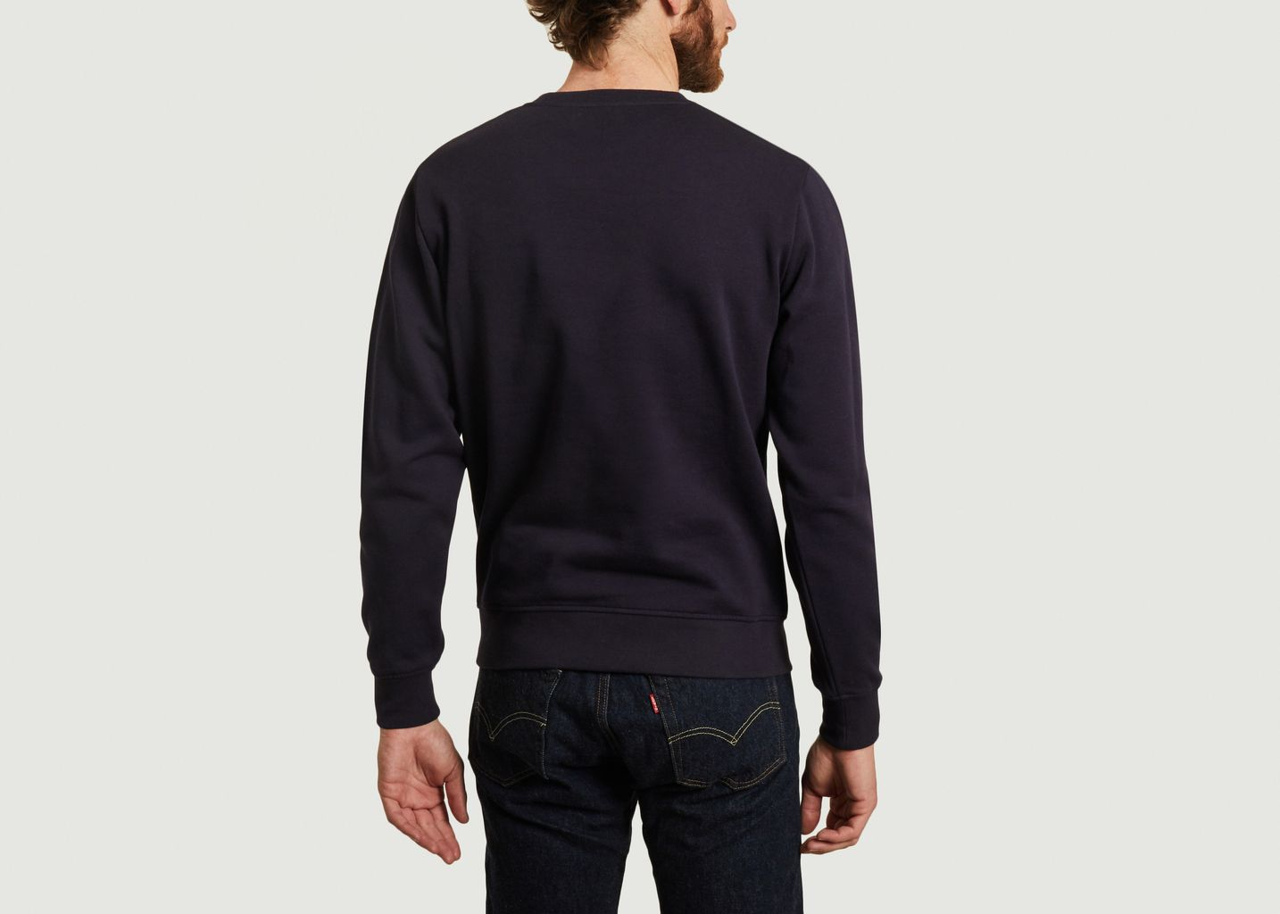 Sweatshirt en coton bio imprimé paysage Cliffs - Olow