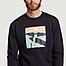 matière Sweatshirt en coton bio imprimé paysage Cliffs - Olow