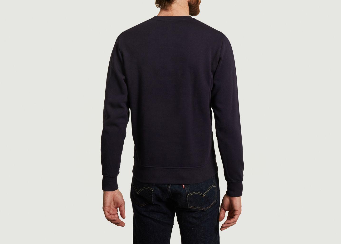 Sweatshirt en coton bio avec broderie Colorful Fish - Olow