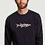 matière Sweatshirt en coton bio avec broderie Colorful Fish - Olow