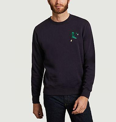 Crococo organic cotton embroidered sweatshirt