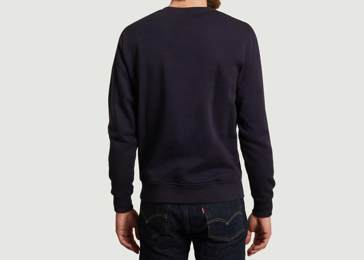 Sweatshirt en coton bio avec broderie Crococo - Olow