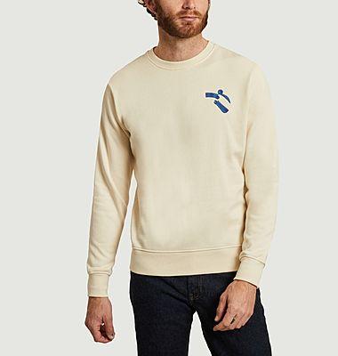 Hug organic cotton embroidered sweatshirt