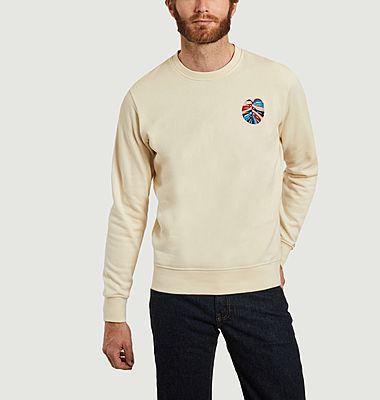 Monstera embroidered organic cotton sweatshirt