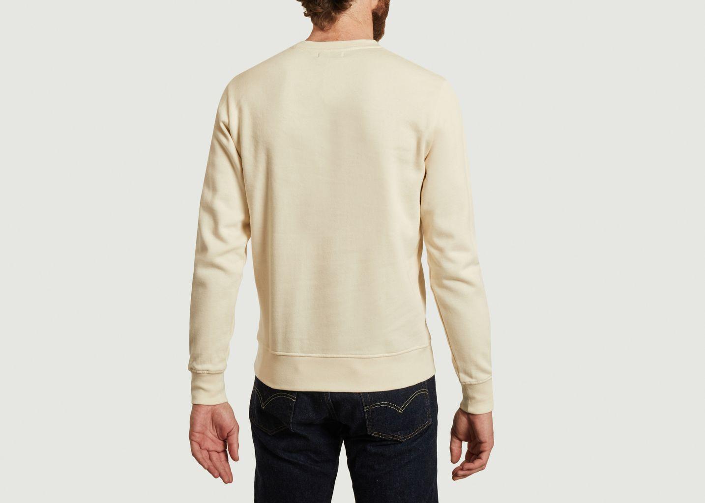 Sweatshirt en coton bio avec broderie Monstera - Olow