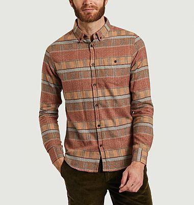 Chemise rayée en flanelle de coton Parcel