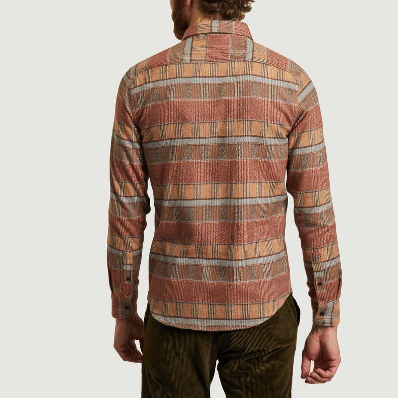 Chemise rayée en flanelle de coton Parcel - Olow