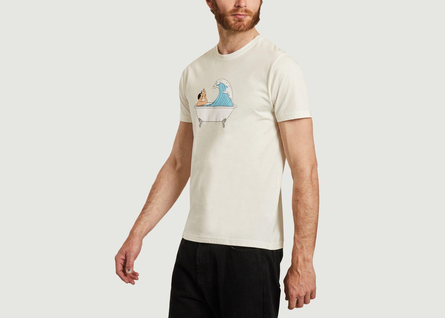 T-shirt en coton bio imprimé Bath - Olow