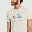matière T-shirt en coton bio imprimé Bath - Olow