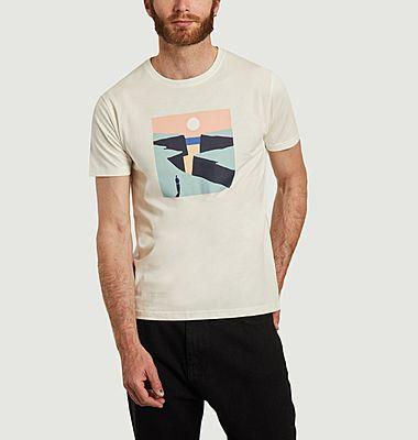 T-shirt en coton bio imprimé Cliffs