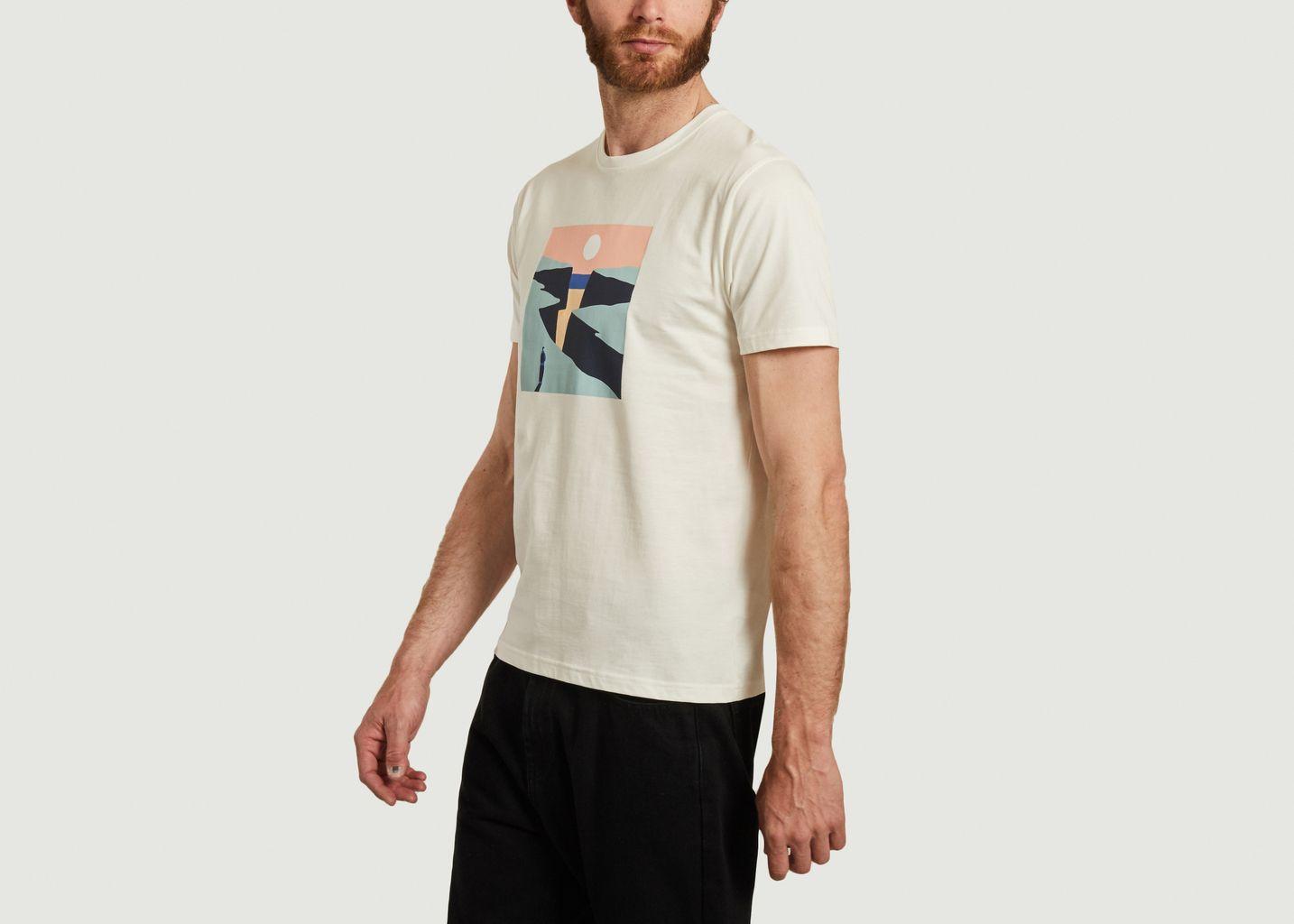 T-shirt en coton bio imprimé Cliffs - Olow