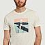 matière T-shirt en coton bio imprimé Cliffs - Olow