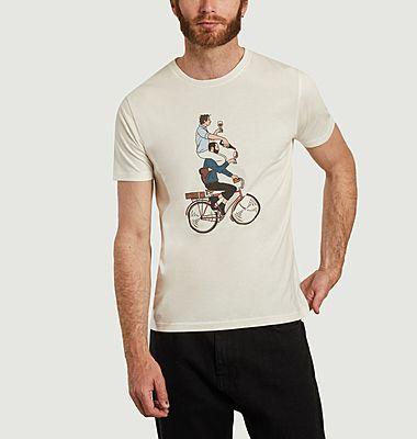 T-shirt imprimé en coton bio Cyclapero