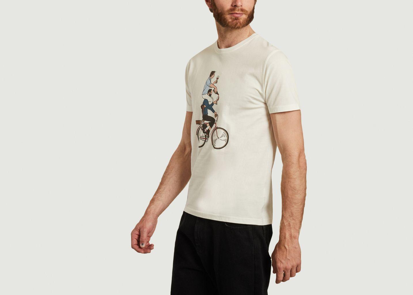 T-shirt imprimé en coton bio Cyclapero - Olow